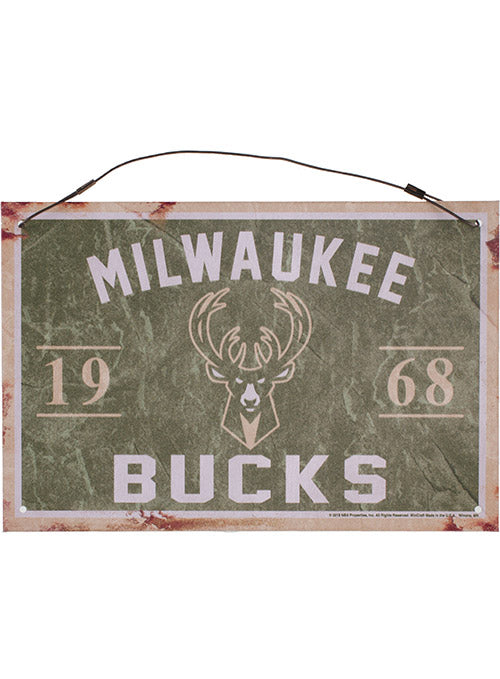 Wincraft Metal Icon Hanging Milwaukee Bucks Sign