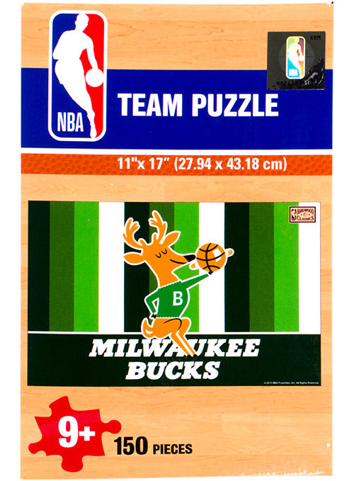 Wincraft Hardwood Classics Irish Rainbow 150-Piece Milwaukee Bucks Puzzle
