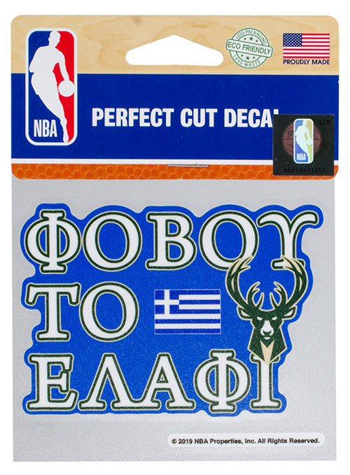 "Wincraft ""Fear the Deer"" Greek Milwaukee Bucks Decal"