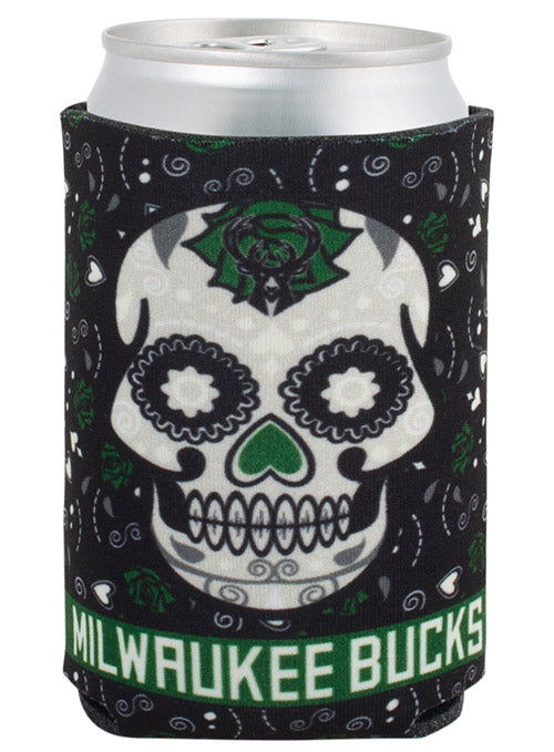 Wincraft Sugar Skull Milwaukee Bucks Koozie