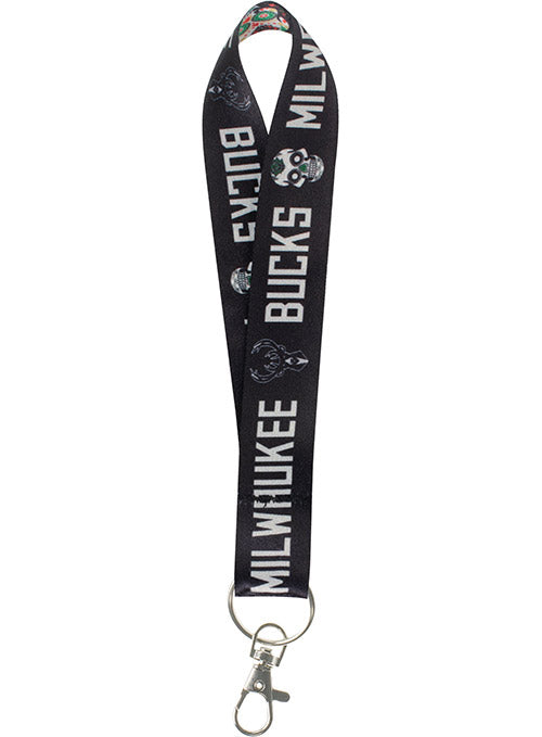 Wincraft Sugar Skull Milwaukee Bucks Key Strap