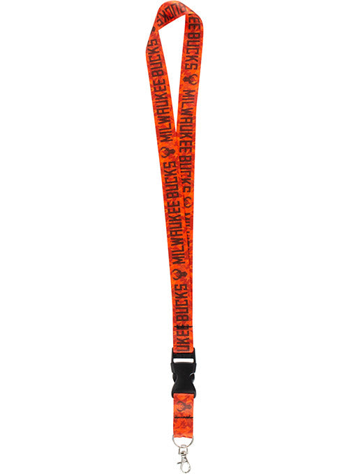 Wincraft Orange Camo M Icon Milwaukee Bucks Lanyard
