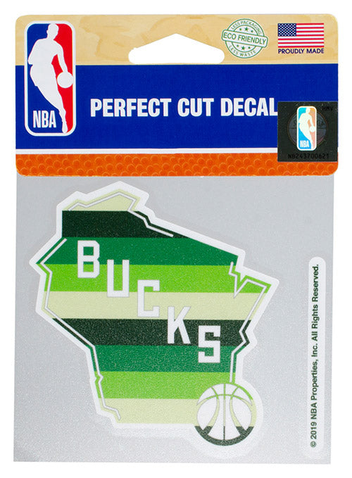 Wincraft Irish Rainbow State Milwaukee Bucks Decal