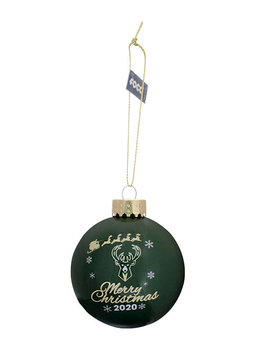 FOCO Glass Ball 2020 Milwaukee Bucks Ornament