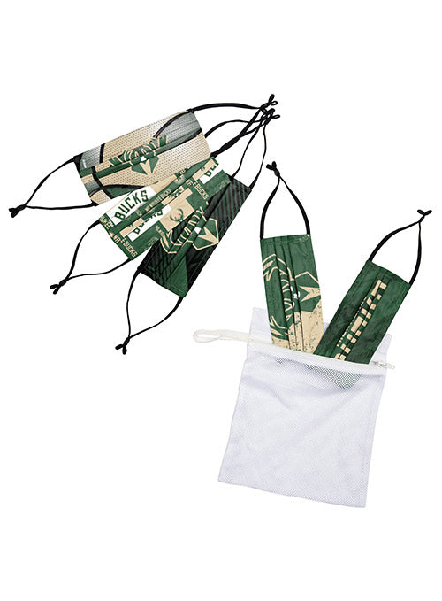 Youth FOCO 5-Pack Milwaukee Bucks Reusable Face Covers