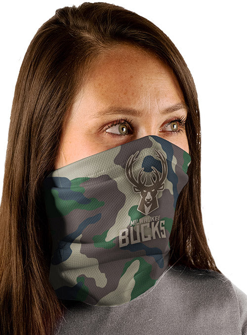 Wincraft Camo Milwaukee Bucks Neck Gaiter