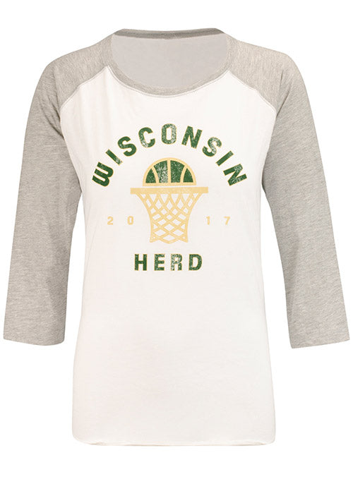 Women's Item of the Game Free Throw Raglan Wisconsin Herd Long Sleeve T-Shirt