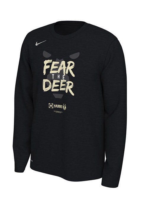 Nike Mantra 2019 Playoffs 2019 Milwaukee Bucks Long Sleeve T-Shirt