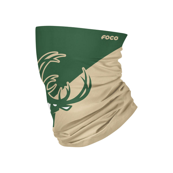 Youth FOCO Big Logo Milwaukee Bucks Neck Gaiter