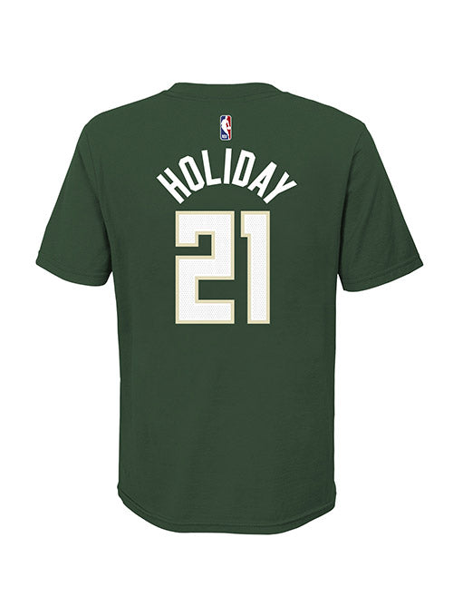 Youth Nike Jrue Holiday Icon Milwaukee Bucks T-Shirt