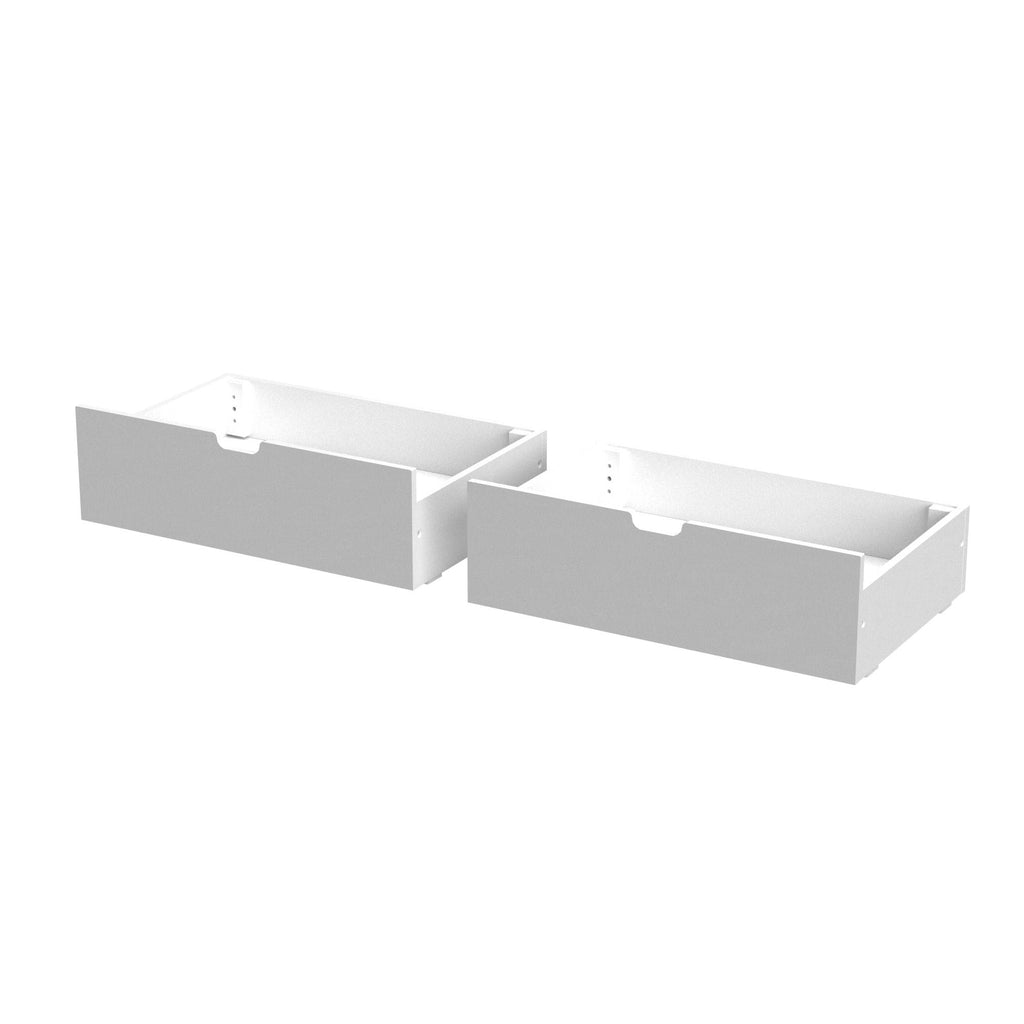 Max & Lily Under Bed Storage Drawers Component White