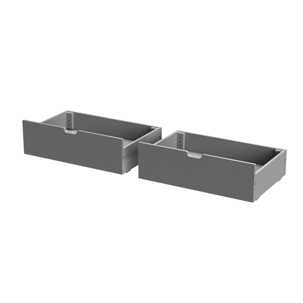 Max & Lily Under Bed Storage Drawers Component Grey