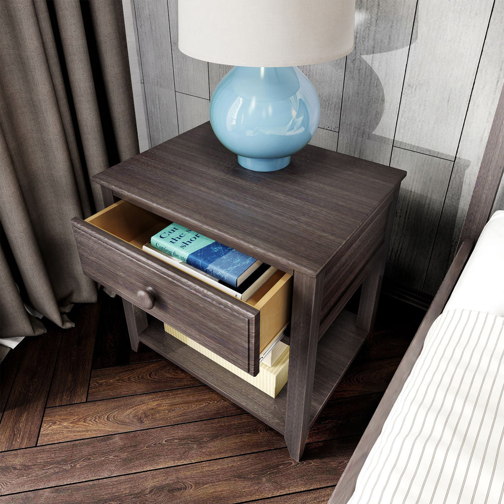 Max & Lily Nightstand with Drawer and Shelf Furniture