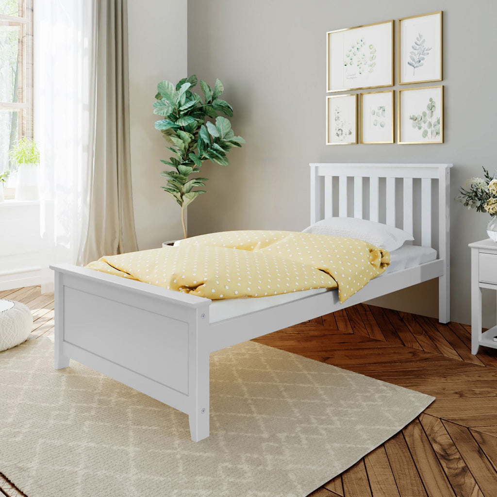 Max & Lily Kid's Twin Size Bed Kids Beds White