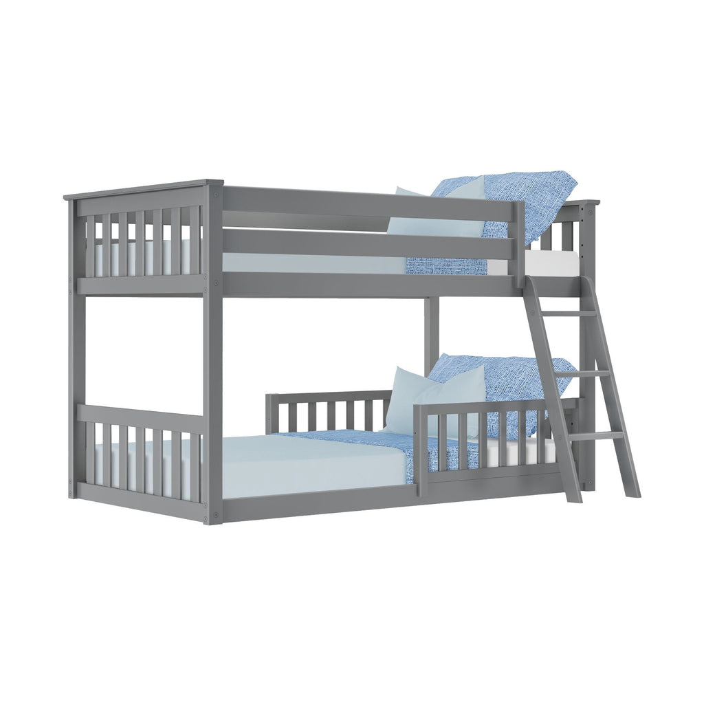 Max & Lily Low Bunk with Single Guard Rail Bunk Beds