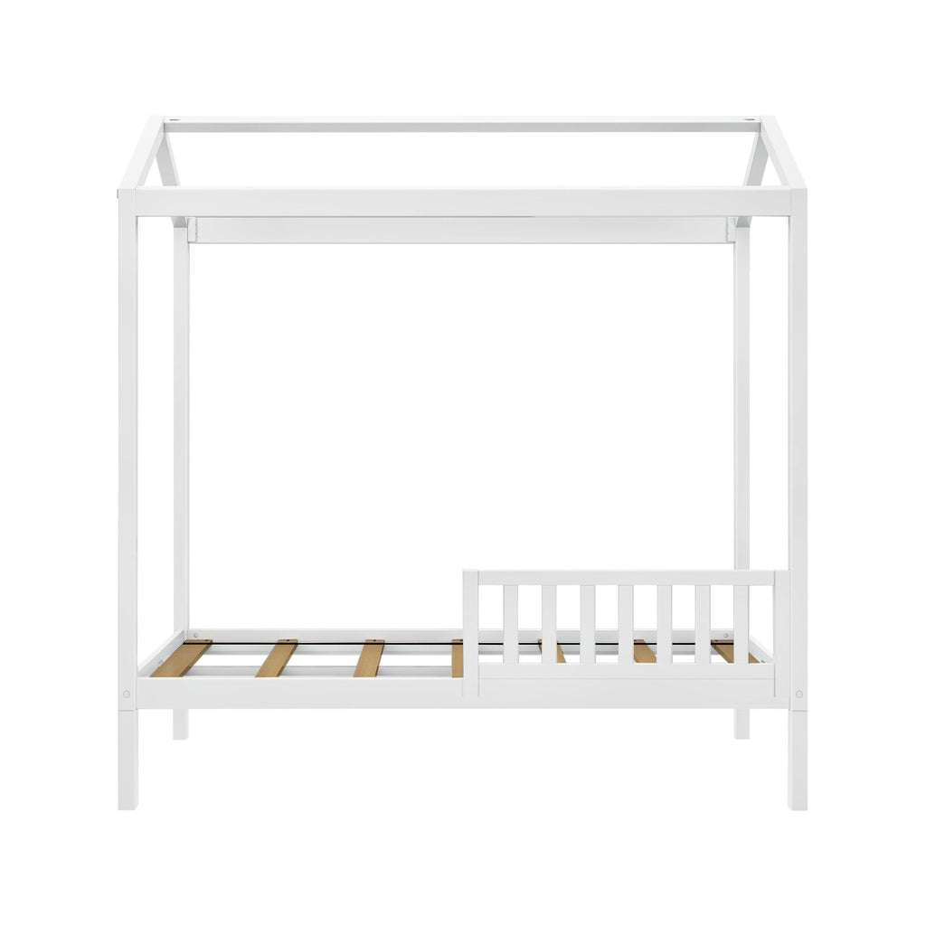 Max & Lily Twin House Bed with Guard Rail Kids Beds