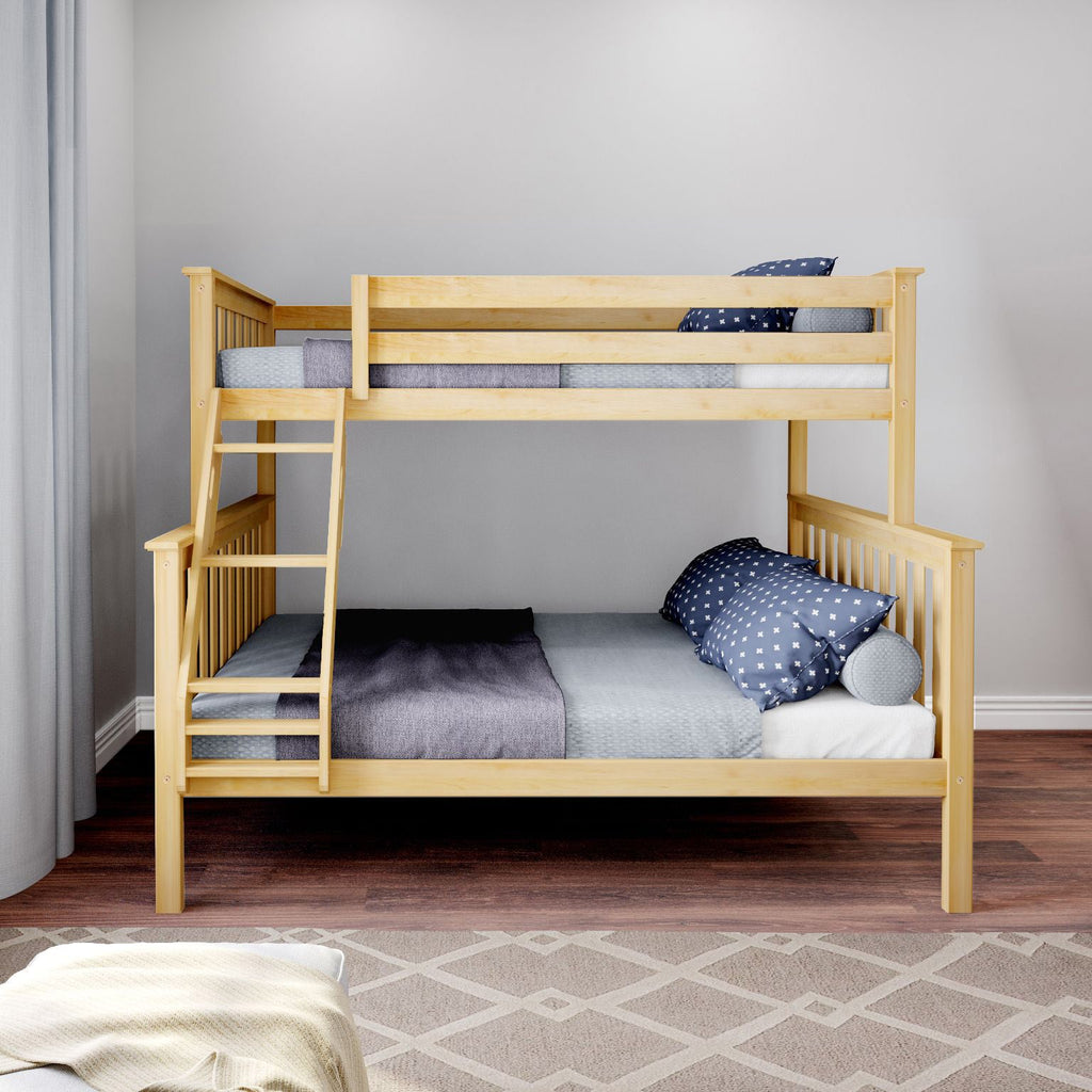 Max & Lily Kid's Twin Over Full Size Bunk Bed Bunk Beds Natural