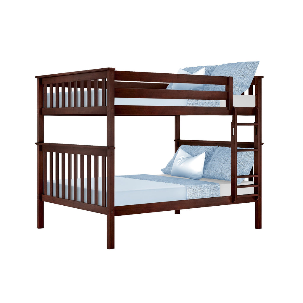 Max & Lily Kid's Solid Wood Full/Full Bunk Bed Bunk Beds