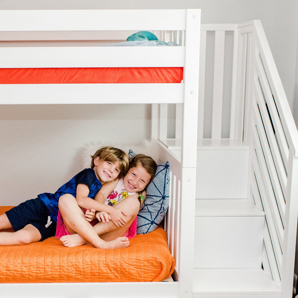Max & Lily Twin over Twin Staircase Bunk Bunk Beds