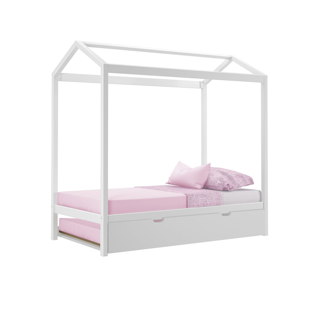 Max & Lily Twin-Size Trundle Twin House Bed Kids Beds