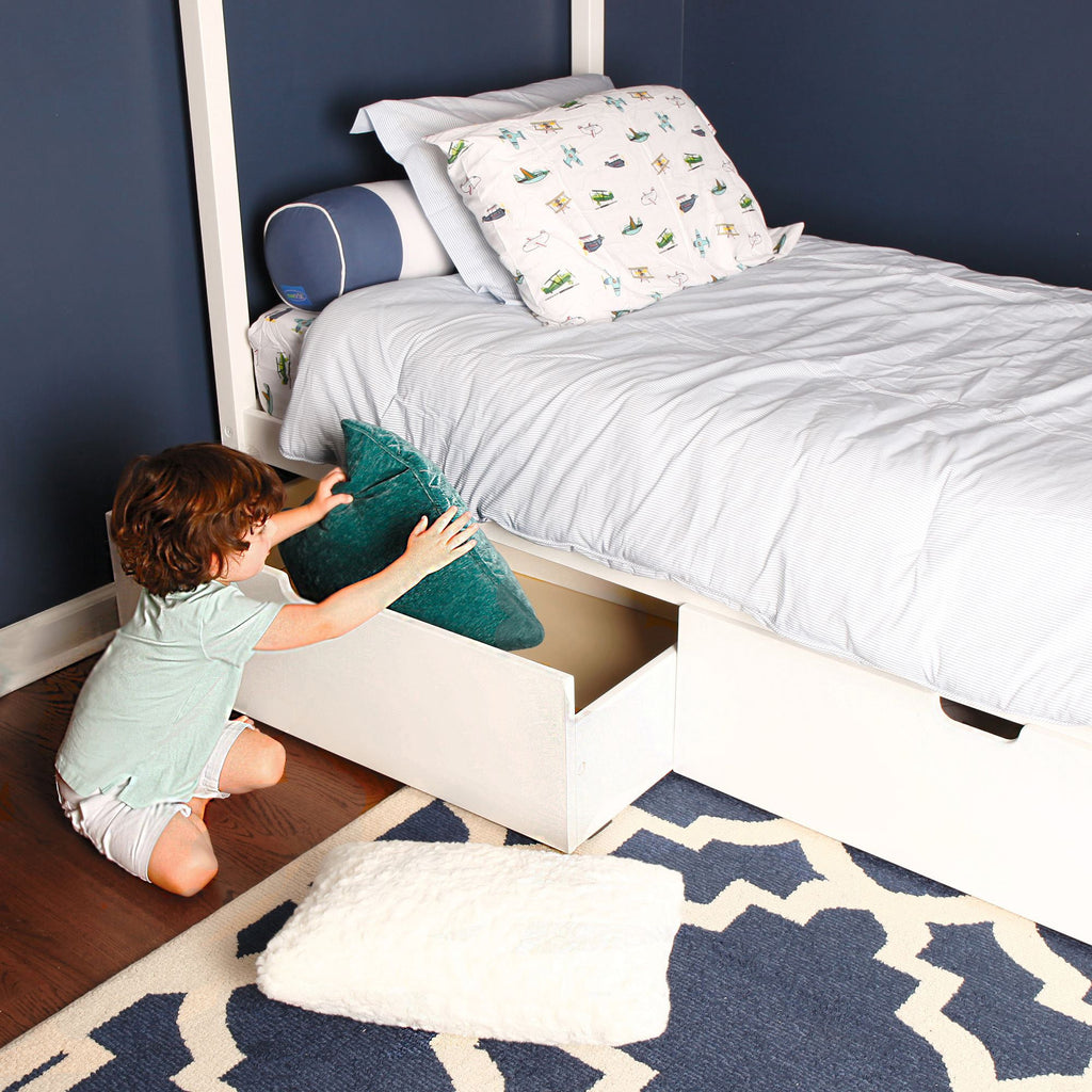 Max & Lily Kid's Twin Size House Bed with Storage Drawers Kids Beds