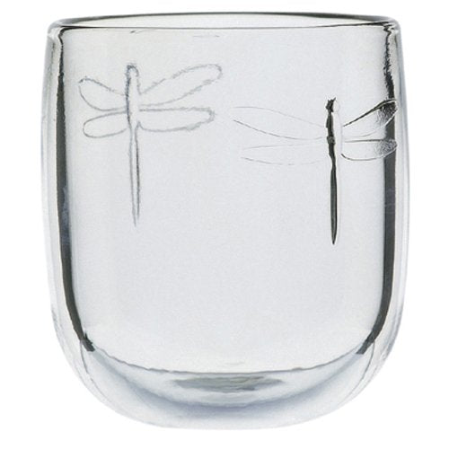 La Rochère Set of, 9.5oz.Dragonfly Décor Rounded Goblets, Clear