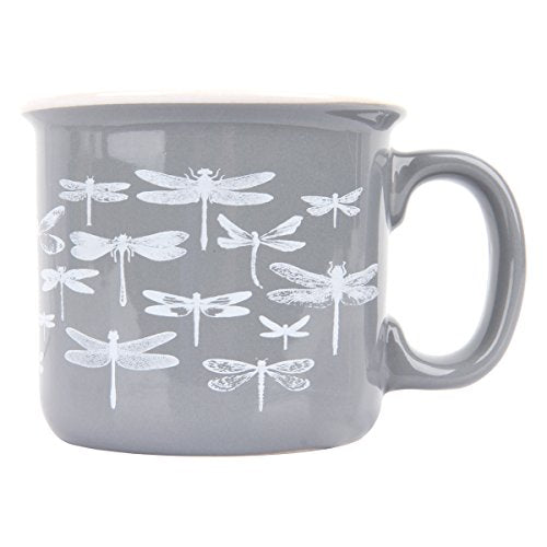 Karma Camp Dragonfly Mugs, Slate Gray