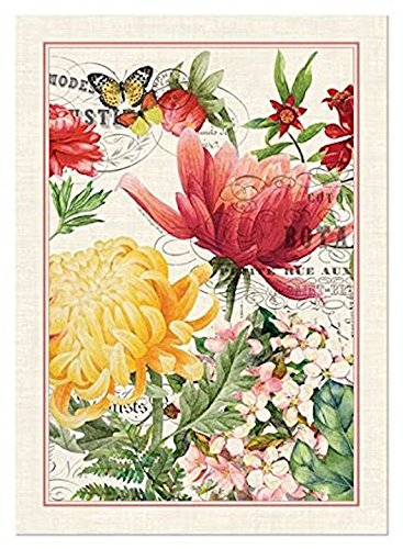 Michel Design Works Cotton Kitchen Dish Towel, Morning Blossoms