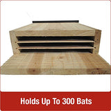 Nature's Way Bird Product CWH6 Triple Chamber Cedar Bat House, 20.5 by 12 by 5-Inch