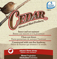Nature's Way Bird Product CWH1 Cedar Wren House, 8 by 8.875 by 8.125-Inch