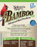 Nature's Way Bird Products BWF19 Bamboo Hopper Bird Feeder with Suet Cage, 6-Quart