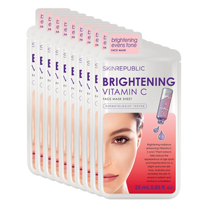 Vitamin C Brightening Face Mask - 10 Pack