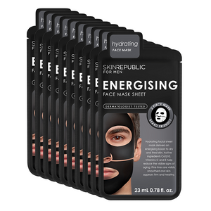 Men's Energising Face Mask Sheet - 10 Pack