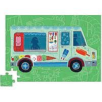 24 pc Ice Cream Truck Mini Vehicle