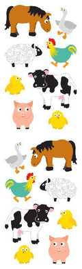 Chubby Farm Animal Stickers