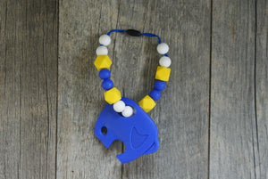 Carrier Teether Cobalt Elephant