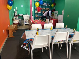 Party Area Rental Multiple Sessions