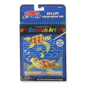 Scratch Art Color Reveal Sea Life