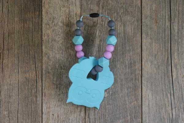 Carrier Teether Tiffany Blue Owl