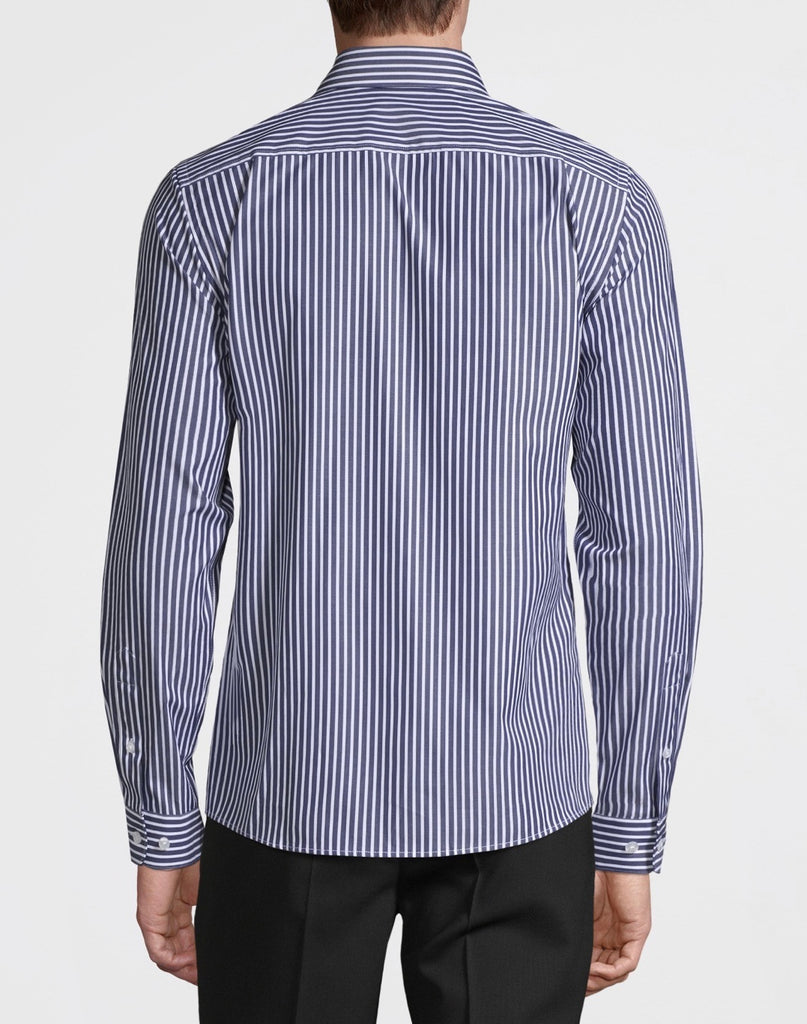 The Bank Shirt Navy stripe