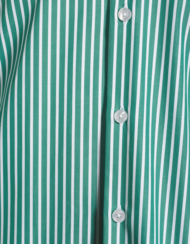 The Bank Shirt Green stripe