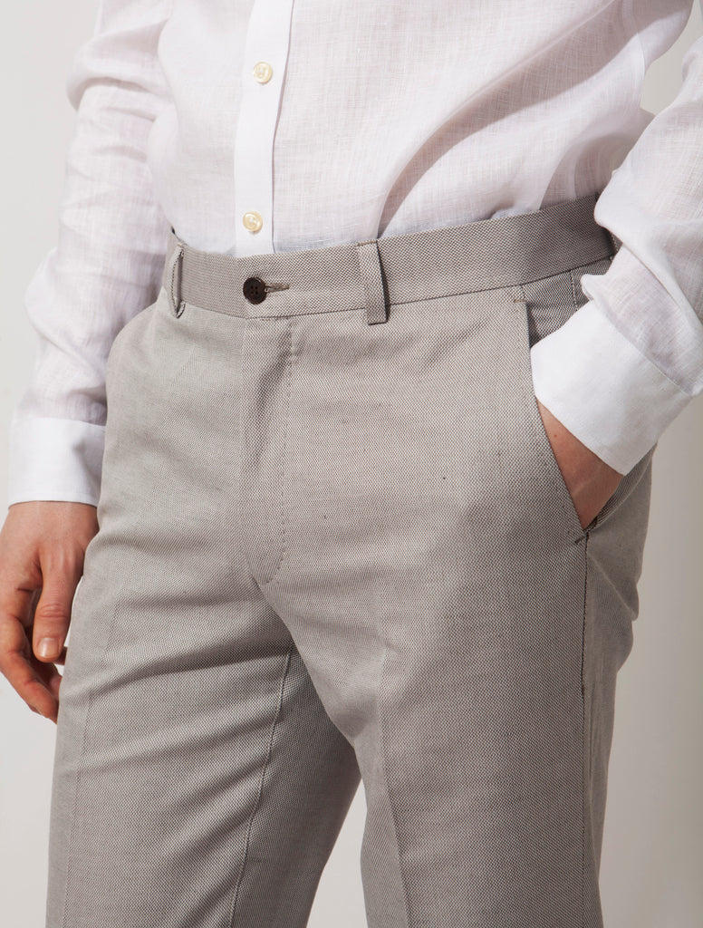 The Guy Suit - Linen Micro structure