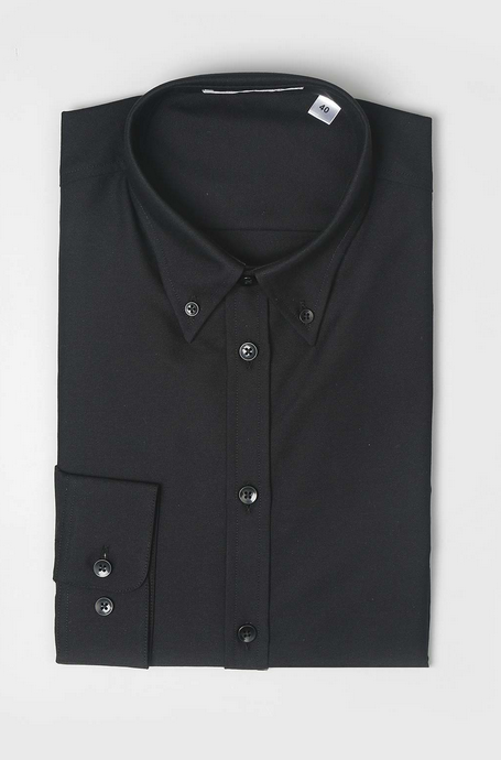 The Wood Shirt Black Oxford