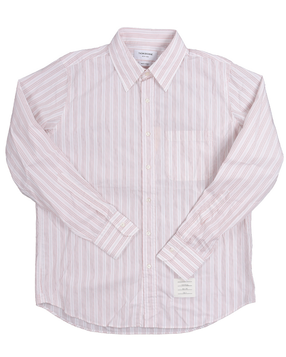 Straight Fit Hairline Stripe Poplin Shirt w/ Tags
