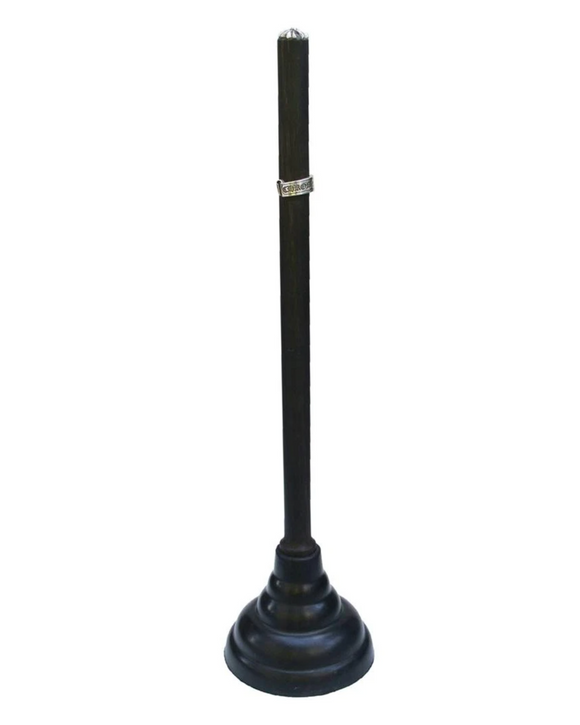 Hand Carved Wood and Sterling Silver Plunger Ebony