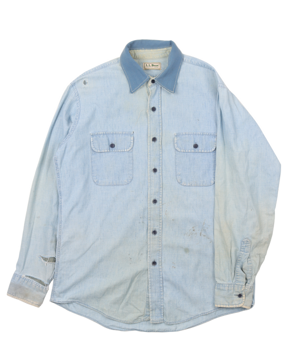 1990's Repaired Denim Shirt