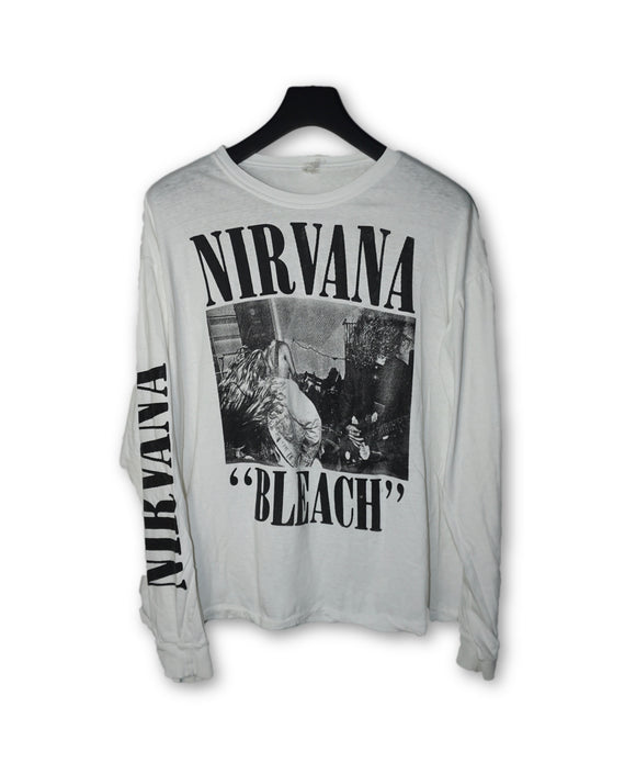 Nirvana Bleach L/S Vintage Rock T-Shirt