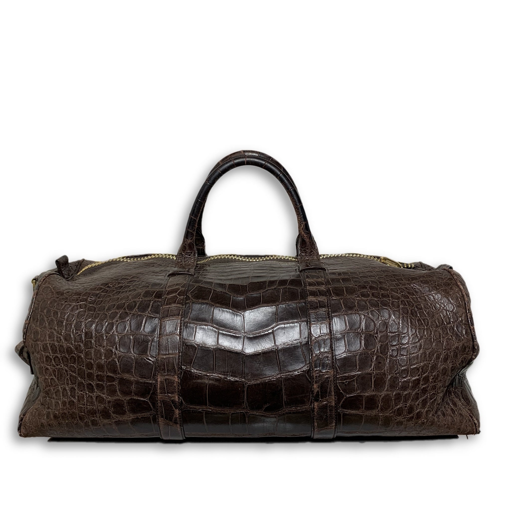 0ade474bd83b Tom Ford Buckley Alligator Brown Duffle Bag – Justin Reed New York