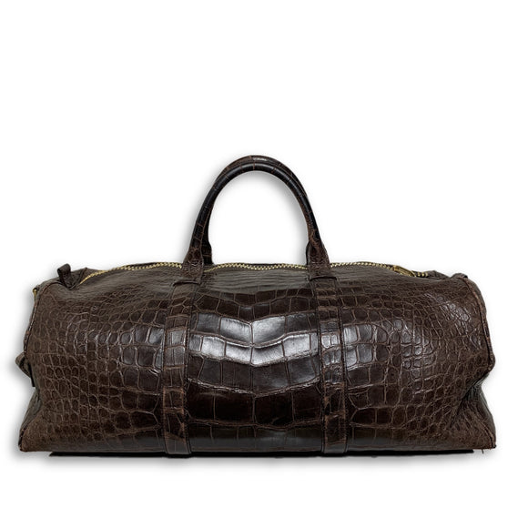 Buckley Alligator Brown Duffle Bag