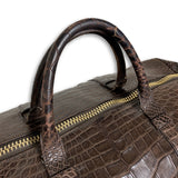 Tom Ford Buckley Alligator Brown Duffle Bag